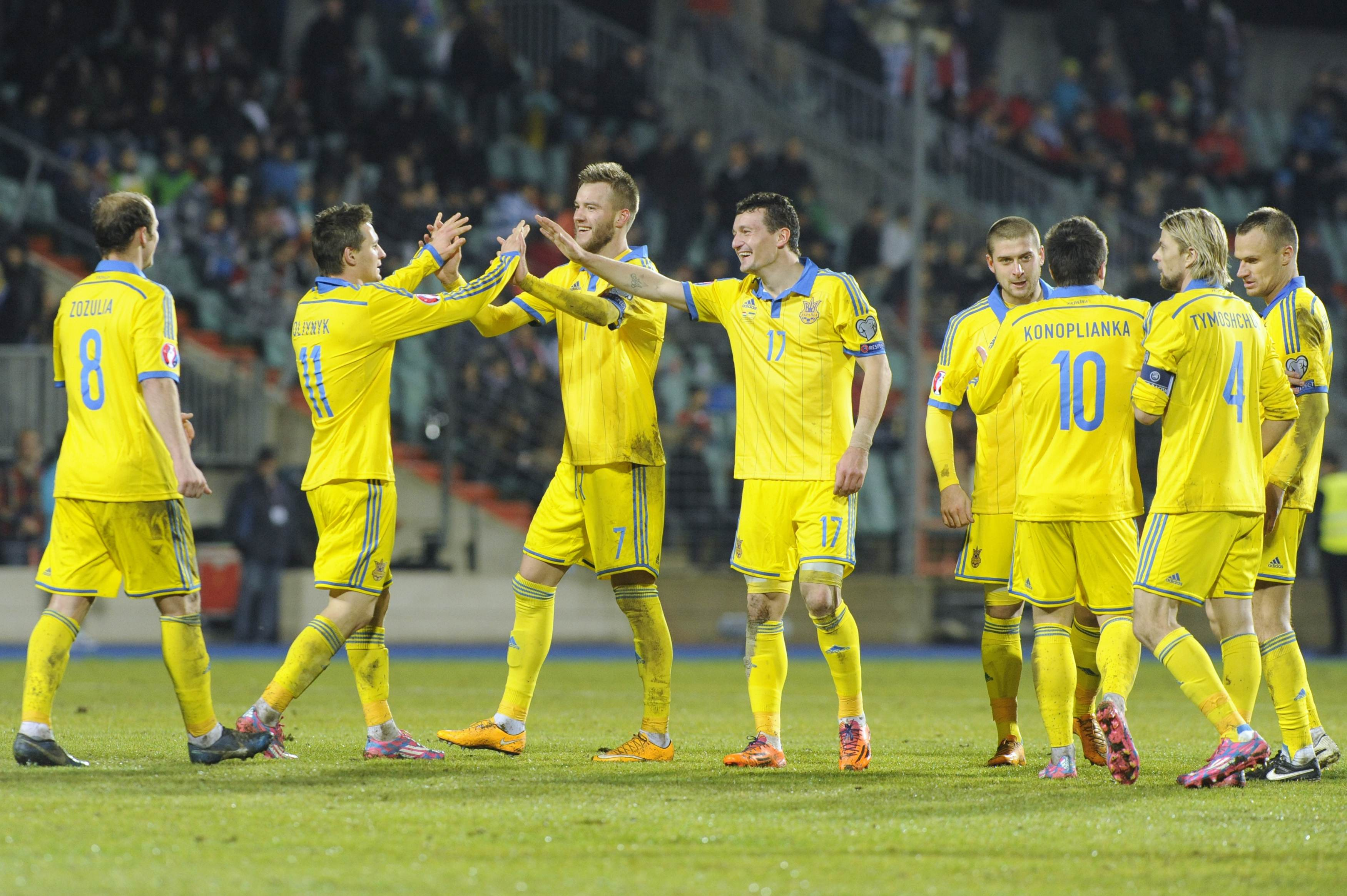 Трансляция матча Украина — Кипр, 24 марта 2016