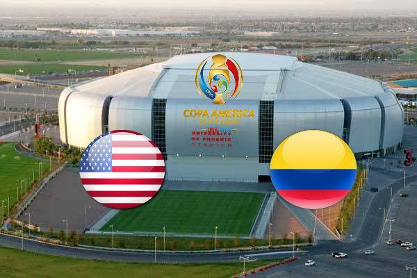Трансляция матча США — Колумбия, 26 июня 2016