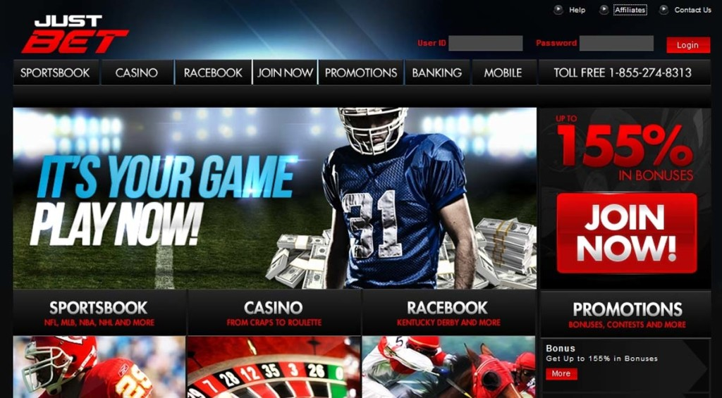 Justbet-Homepage