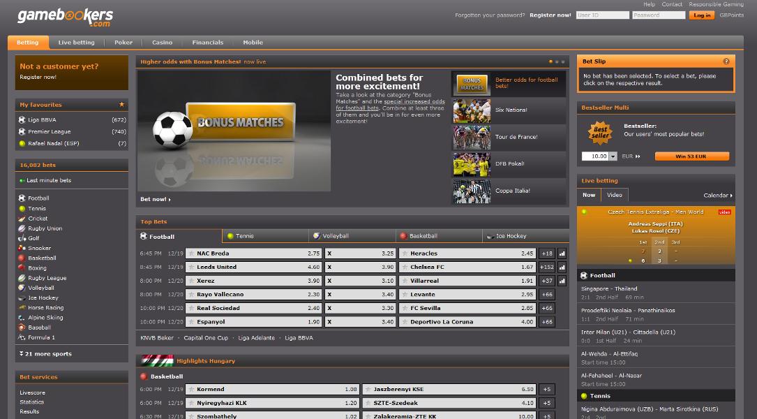 gamebookers-sc-website